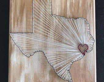 Texas string art etsy texas string art state string art texas nail art rustic decor custom prinsesfo Image collections