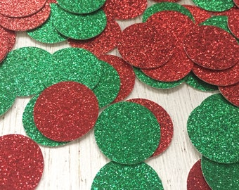 Holiday Glitter Confetti, Glitter Confetti, Christmas Confetti, Red and Green Confetti, Holiday Confetti, Christmas Party Decor