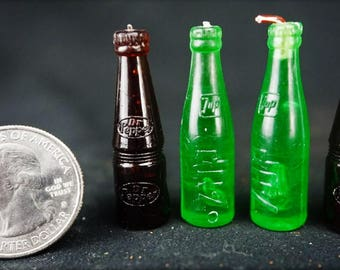 Soda Bottle: Handley House, garden supplies, fairy garden, dollhouse, miniature,