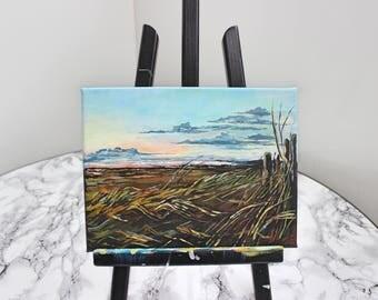 Acrylic Painting on Canvas - Landscape, Seascape, Scotland Beach, Contemporary Art