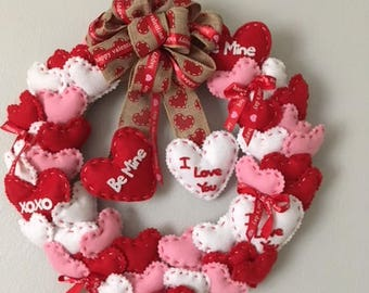 Be Mine valentine wreath