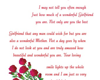 Girlfriend Mothers Day Card 1