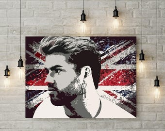 George Michael, Print or Canvas, George Michael Tribute Art, Wham, Pop Music Legend, Faith, Father Figure Singer, Cool Music Lover Wall Art