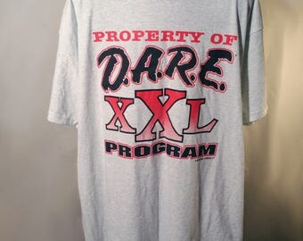 1995 DARE XXL Program 90s Sz XL 90s Just Say No to Drugs War on Drugs 1990s Streetwear Rare Unique Oversize Shirt School Nancy Reagan Failed