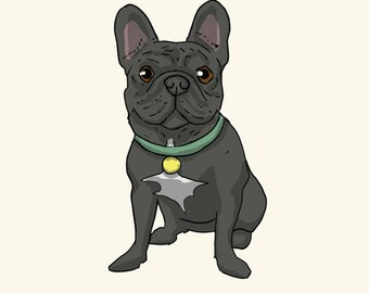 French Bulldog Greetings card: Blank