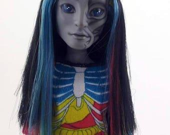 OOAK Neighthan Rot Monster High Doll Repaint