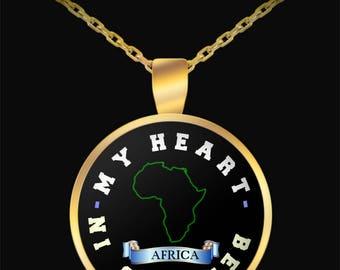 I love Africa necklace | My heart belongs in Africa