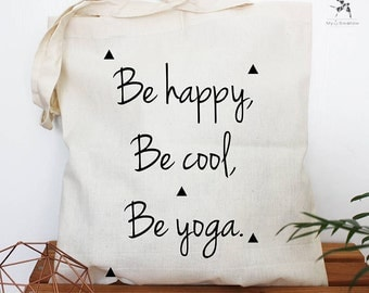 Tote bag be yoga