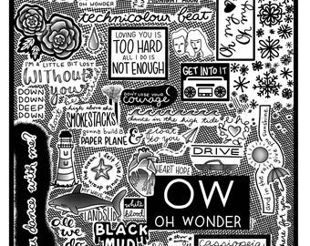 Oh Wonder Sketchbook - Self Titled (Digital Download Print)