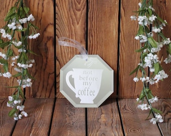 Coffee Cup,Mirror,Wall Hanging,Birthday Gift For Her,Gift For Women,Gift For Friend,Office Wall Art,Gift For Mom,Birthday Gifts,Coffee Lover