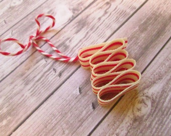 1 Retro Candy Christmas Ornament / Ribbon Candy Christmas Ornament / Retro Christmas Ornaments / Vintage Candy Ornaments / Retro  Christmas