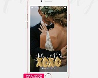 Wedding Geofilter, Wedding Geotag, Wedding Snapchat Filter, Snapchat Geofilter Wedding, Wedding Filter, Xoxo Geofilter, Love Geofilter