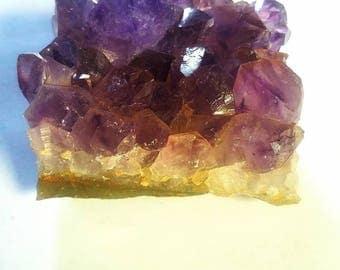 Amethyst Cluster Raw Crystal Reiki Healing 3rd Eye Chakra Fairy Garden