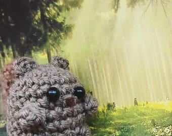 Little Squirrel Amigurumi, crocheted animal, keychain, lucky charm