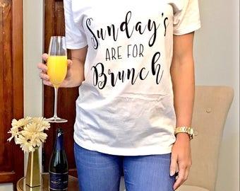 Women's T-shirt, Women's V-neck, Brunch shirt, Brunch Sayings, Brunch Apparel, V-Neck