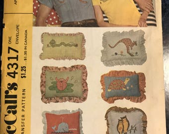Vintage 1974 McCall Transfer Pattern 4317