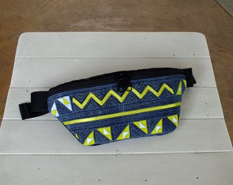 Hill tribes Image and cloth Fanny Pack (Hmong Tribes Waist bag)