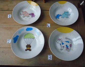 Hand painted child's plate