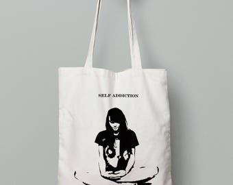 Self Addiction Relax Tote bag