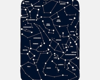 Constellation Blanket, Navy Blue Blanket, Nerdy Blanket, Fleece Blanket, Stars Blanket, Navy Blanket, Tumblr Room Decor, Tumblr Aesthetic