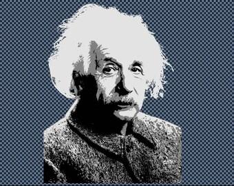 Embroidery Albert Einstein scientific genius
