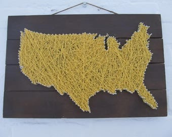 United States Map String Art