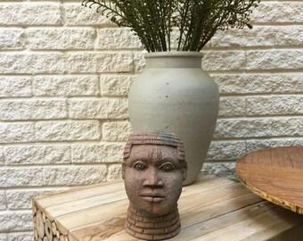 Antique Terracotta Nok-African Head