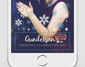 Custom Snapchat Geofilter | Christmas Snapchat Geofilter | Holiday Party Geofilter | Winter Snapchat Filter
