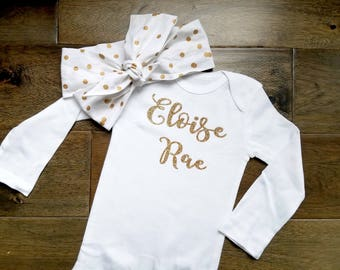 First and Middle Name Onesie
