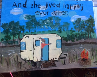 """Painting.  """"And she lived happily ever after"""""""