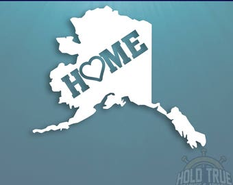 Alaska Decal, PICK COLOR and SIZE, alaska Home Decal, alaska Car Decal, Alaska sticker, Alaska car sticker, Alaska window sticker