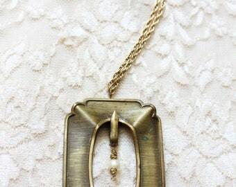 Antique Frame Necklace