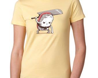 Women's Yellow Tuna Sushi Samurai Foodie Gift Sushi lover gift Sushi clothing Cute Food Shirt Sushi Roll Sushi Roll Shirt Sushi shirt Funny