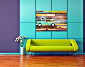 Wall Art, Hanging Wall Sculpture, Upcycled Wood Art, Repurposed Art, Wood Art Handmade