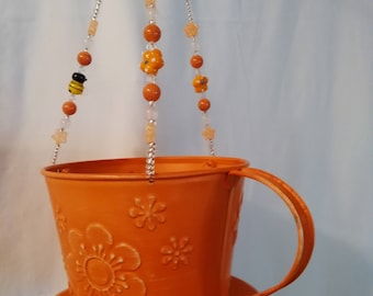 Orange Cup and Saucer Flatware Windchime
