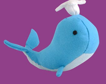DIY plush felt whale sewing kit