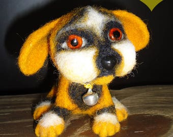 Needle Felted Dog, OOAK Toy Dog, Small Dog Toy, Realistic Toy Dog, Needle Felt Dog, Felt Dog, Needle Felt Dogs, Needle Felted Puppy