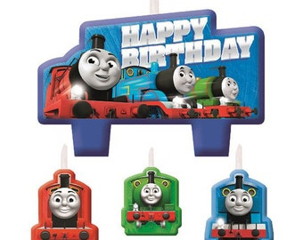 Thomas and Friends Candles - Set of 4