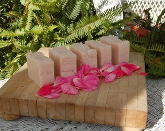 Pretty In Pink Goats Milk and Shea Organic lightly Scented Clary Sage skin tightening soap