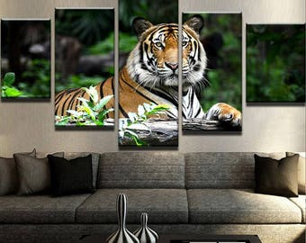 Tiger Canvas Set | Animal Canvas Set | Animal Poster | Animal Wall Decor | Tiger Wall Print | Tiger Wall Art | Tiger Poster | kids wall art