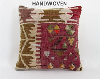 kilim pillow home decor rug pillow vintage throw pillow cover wedding gift decorative pillow bedroom decor housewarming gift for women  851