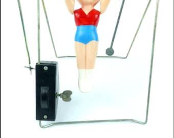 Child's Clockwork Gymnast Toy - Celluloid Toy - circa 1940