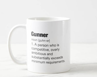 Gunner - medical student - gift - med school - college - PA - doctor mug - study - present - smart - medicine - nursing - medical mug