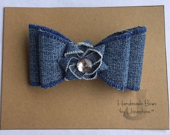 Handmade Muticolor & Denim Bows