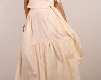 Long Skirt With Lace Top