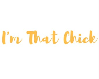 Just in case I'm That Chick downloadable print. Quotes