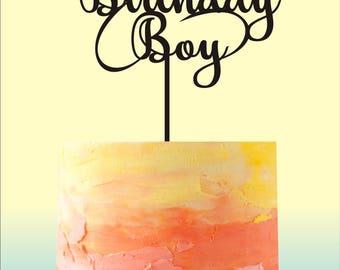 Birthday Cake Topper, Birthday Boy Cake Topper, Birthday Party Cake Topper, Birthday Cake Decorations