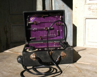 SALVALUX, Violet Ray, complete with attachments, 1930s
