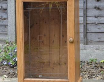 Antique Look Pine Display Cabinet
