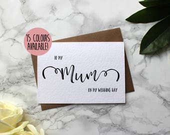 To My Mum On My Wedding Day - To My Mom On My Wedding Day - Mum Wedding Day Card - Parents Wedding Card - To My Parents On My Wedding Day